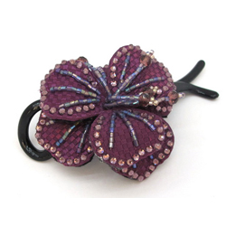 Заколка Цветок фиолетовый